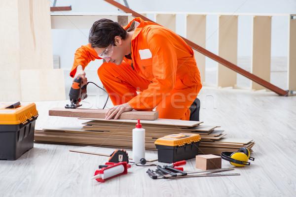 Trabalhando homem construção trabalhar Foto stock © Elnur