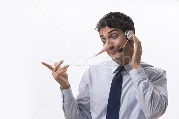 Businessman on the phone lying to his opponent Stock photo © Elnur