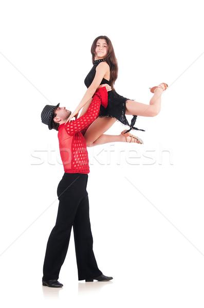 пару танцоры изолированный белый музыку девушки Сток-фото © Elnur