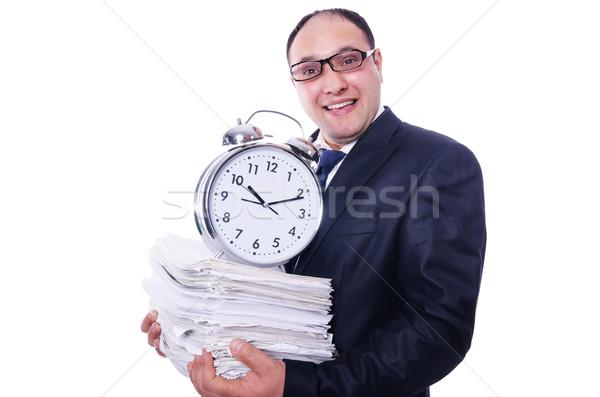 Uomo non riunione scadenze clock lavoro Foto d'archivio © Elnur