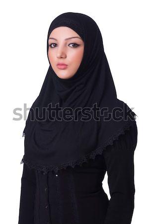 Stok fotoğraf: Müslüman · genç · kadın · başörtüsü · beyaz · kadın