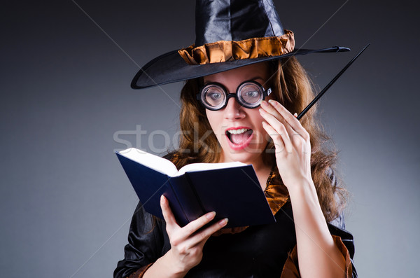 Witch in scary halloween concept Stock photo © Elnur