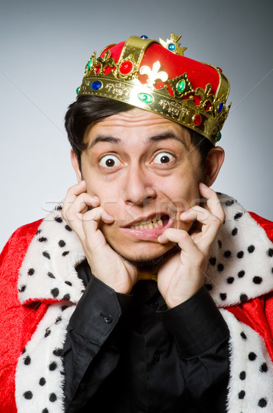 King businessman in funny concept Stock photo © Elnur