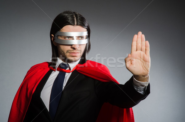 Homem vermelho roupa engraçado terno Foto stock © Elnur