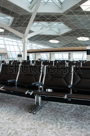 Chairs in the airport lounge area Stock photo © Elnur