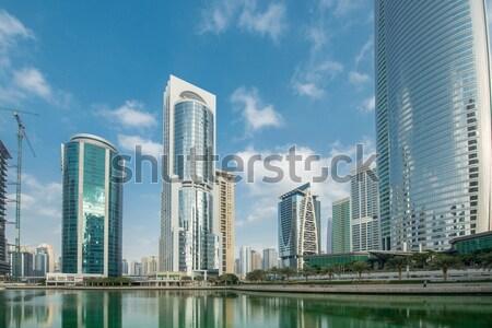 Wysoki wieżowce Dubai wody budynku miasta Zdjęcia stock © Elnur