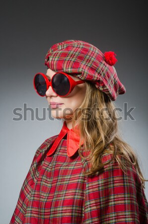 Funny scotsman smoking pipe tobacco Stock photo © Elnur
