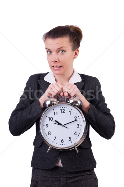 Imprenditrice clock mancante scadenze donna lavoro Foto d'archivio © Elnur