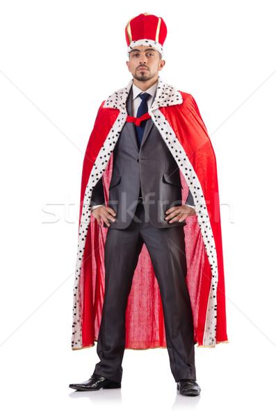 Króla biznesmen odizolowany biały pracy wykonawczej Zdjęcia stock © Elnur