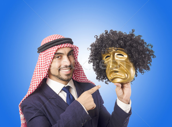 Arab man hypocrisy concept Stock photo © Elnur