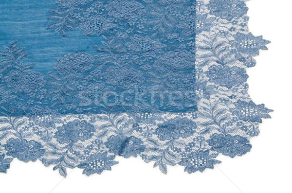 Mooie sjaal geïsoleerd witte gelukkig mode Stockfoto © Elnur