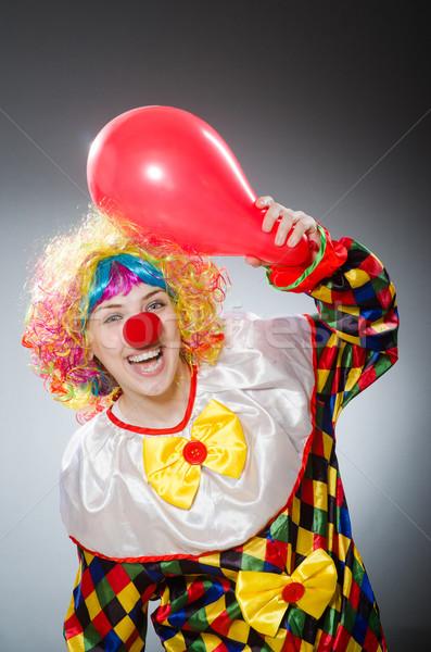 Divertente clown comico uomo divertimento Rainbow Foto d'archivio © Elnur