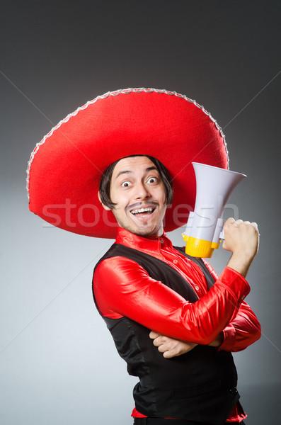 Mexican Guy haut-parleur homme heureux cheveux Photo stock © Elnur