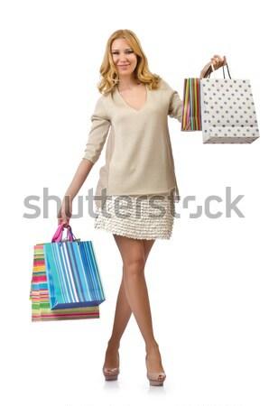 Donna isolato bianco felice moda Foto d'archivio © Elnur