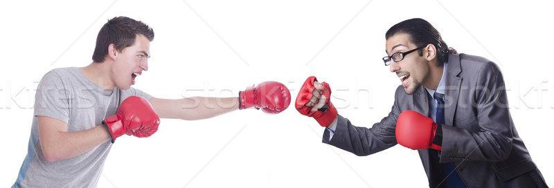 Kettő boxeralsó izolált fehér üzlet öltöny Stock fotó © Elnur