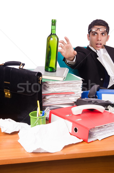 Man after christmas party hangover  Stock photo © Elnur