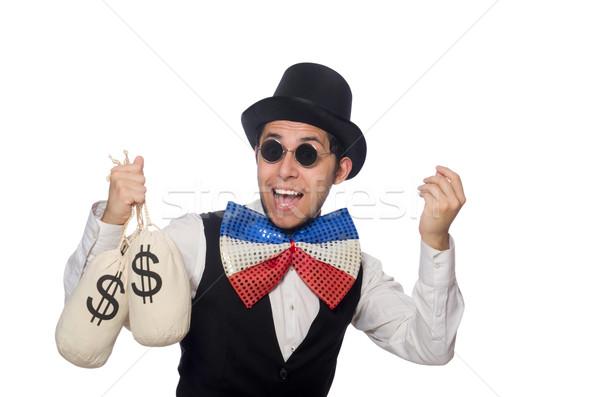 Funny Mann tragen Riese Fliege Gläser Stock foto © Elnur