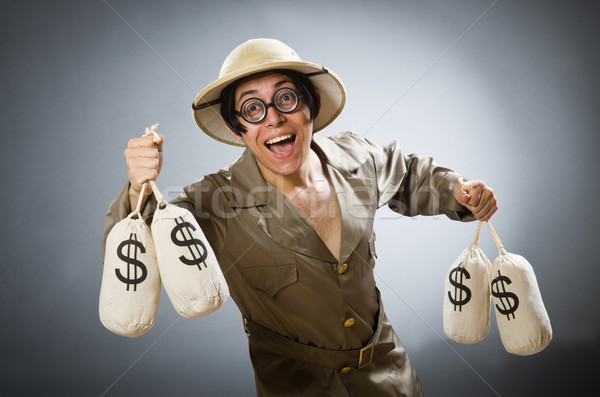 Man wearing safari hat in funny concept Stock photo © Elnur