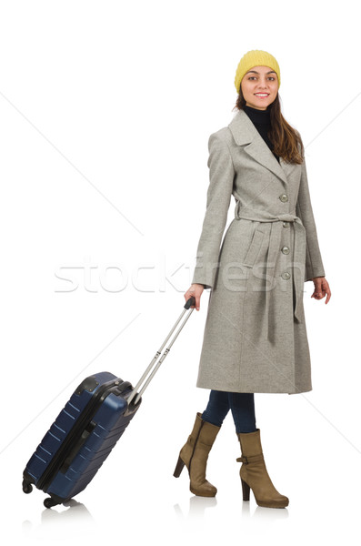 Woman with suitcase ready for winter vacation Stock photo © Elnur