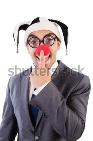 Stock photo: Funny nun isolated on the white