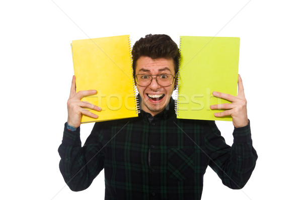 Funny student isolated on the white Stock photo © Elnur