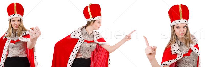 Kobieta interesu królowej odizolowany biały pracy biznesmen Zdjęcia stock © Elnur