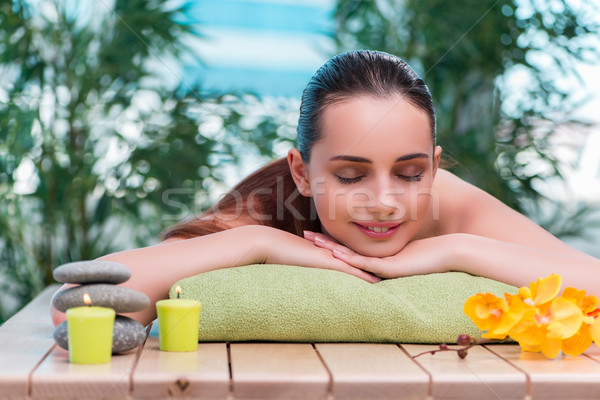 Young beautiful woman during spa procedure Stock photo © Elnur
