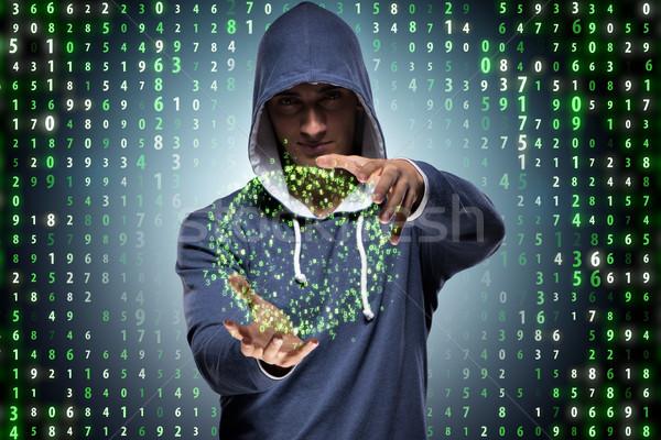 小さな ハッカー セキュリティ コンピュータ ネットワーク デジタル ストックフォト © Elnur