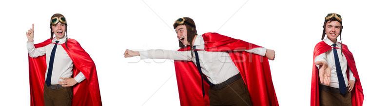 Vicces hős izolált fehér háború jókedv Stock fotó © Elnur