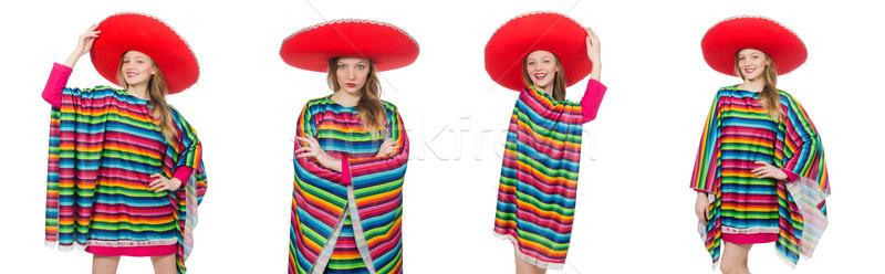 Dość dziewczyna mexican odizolowany biały kobieta Zdjęcia stock © Elnur