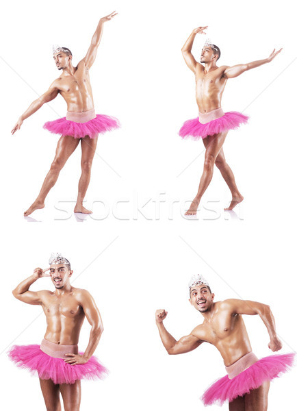 Man wearing ballet tutu isolated on white Stock photo © Elnur