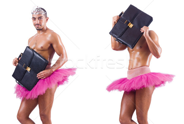 Man wearing ballet tutu isolated on white Stock photo © Elnur