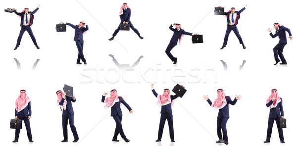 Stock photo: Set of photos with arab businessman