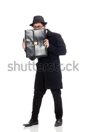 Man with gun isolated on the white Stock photo © Elnur