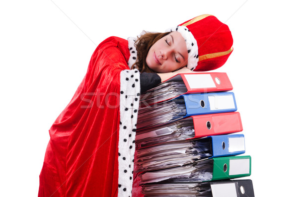 Woman queen in funny concept Stock photo © Elnur