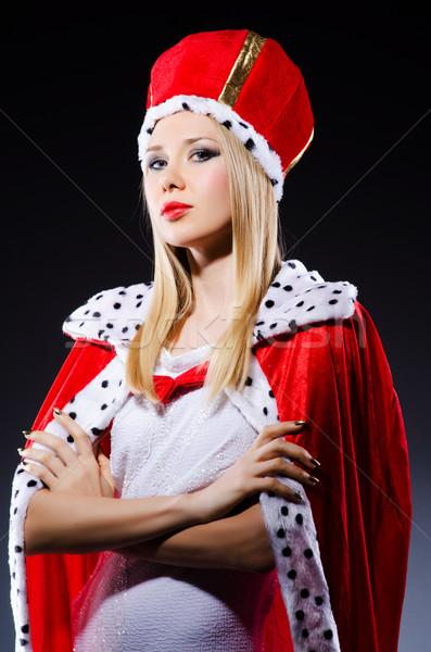 Nő királynő vicces munka üzletember igazgató Stock fotó © Elnur