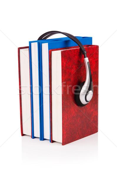 Audio boeken witte muziek technologie Stockfoto © Elnur