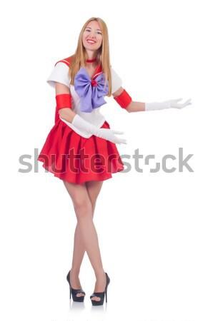 Kadın denizci kostüm deniz gülümseme moda Stok fotoğraf © Elnur