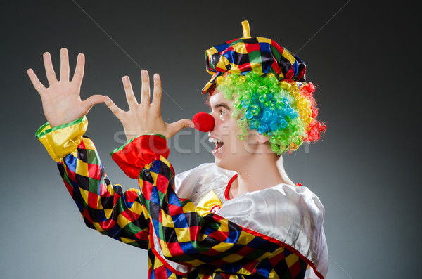 滑稽 小丑 幽默 微笑 樂趣 帽子 商業照片 © Elnur