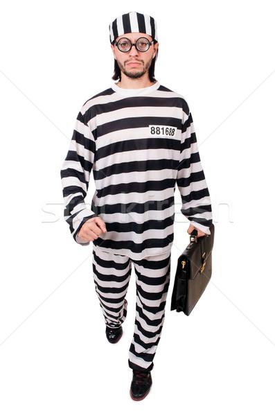 Więzienia więzień odizolowany biały działalności biznesmen Zdjęcia stock © Elnur