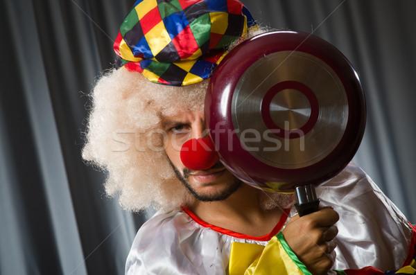 Enojado payaso sartén diversión funny sombrero Foto stock © Elnur