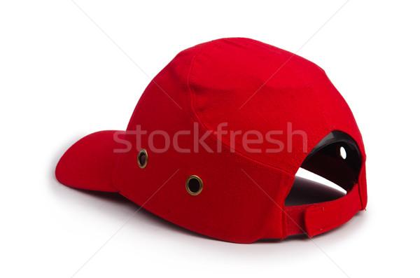 Baseballsapka izolált fehér piros kalap stílus Stock fotó © Elnur