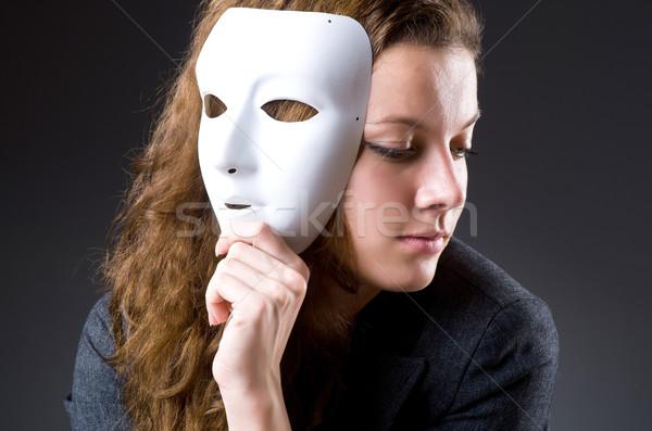 Mujer máscara negocios empresario traje trabajador Foto stock © Elnur