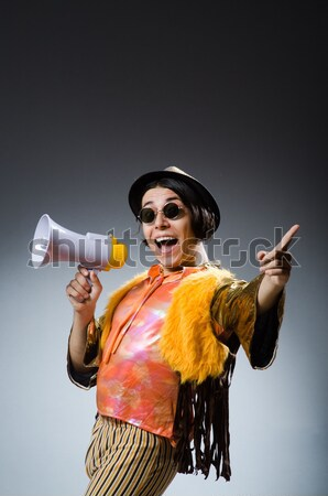 Engraçado safári caçador pistola pessoa jogo Foto stock © Elnur