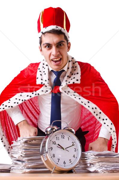Király üzletember papírmunka üzlet munka idő Stock fotó © Elnur