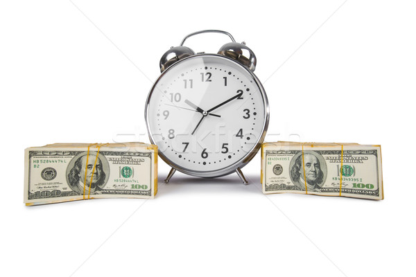Time is money concept with clock and dollars Stock photo © Elnur