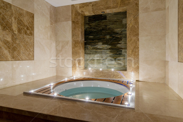 Spa room with burning candles Stock photo © Elnur