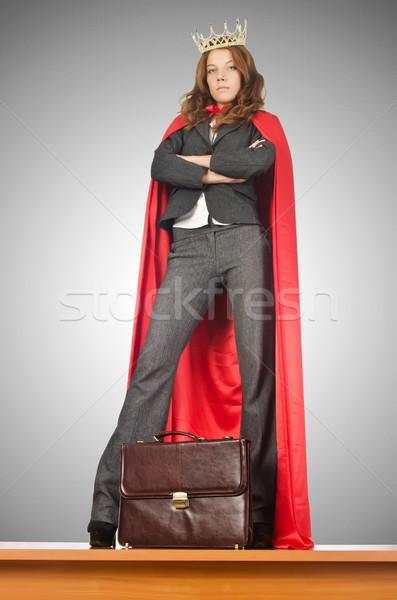 королева бизнесмен Постоянный столе женщину девушки Сток-фото © Elnur