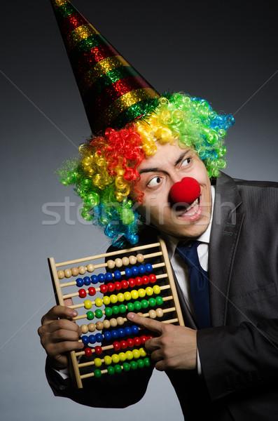 Drôle clown affaires boulier fête heureux Photo stock © Elnur