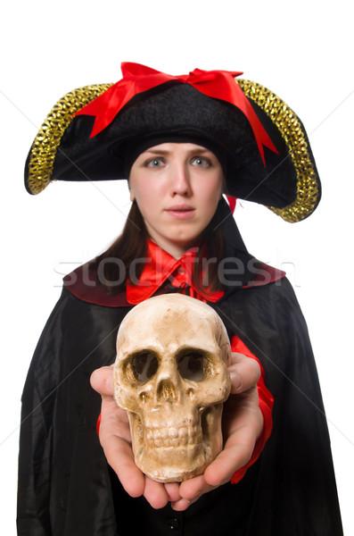 女性 海賊 黒 コート 孤立した 白 ストックフォト © Elnur